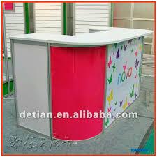 Exhibition Reception Desk Lighting Box Counter Showroom Display Trade Show Exhibition