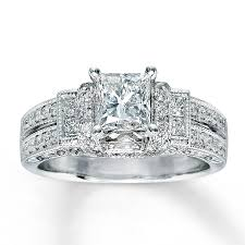Kay Jewelers Wedding Rings For Her by White Gold Princess Cut Diamond Engagement Rings Eternity Jewelry
