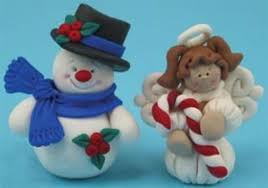 polymer clay snowman and angel ornaments allfreechristmascrafts com