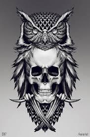 tattoo owl skull by kenoriel on deviantart