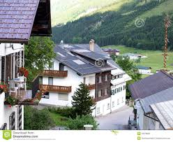 beautiful cottages in landscape royalty free stock photos image