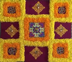 how to decorate home for diwali a simple rangoli for diwali made with real flower petals this