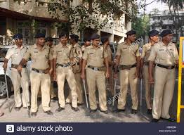 police security outside bollywood actor aamir khan residence over