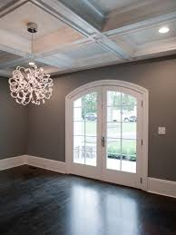 dark floors gray walls white trim and love the light the
