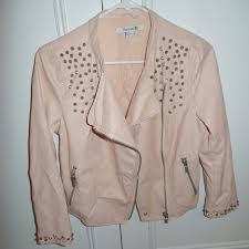 light pink blazer forever 21 forever 21 jackets blazers light pink leather studded jacket