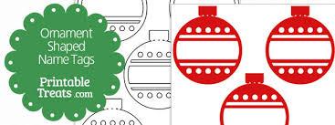 ornament shaped name tags printable treats