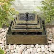 plaque ardoise jardin fontaine solaire en ardoise 4 étages sujet fontaine pompe bassin