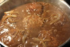 deep south dish hamburger steak with creamy onion gravy