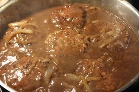 turkey mushroom gravy recipe just deep south dish hamburger steak with creamy onion gravy