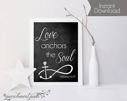Chalkboard Love And Hope Anchors - love anchors the soul wall art hebrews 6 19 bible verse