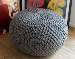 knit bean bag etsy