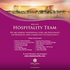 Front Desk Jobs Hiring by We U0027re Looking For The Best People To Okada Manila Careers