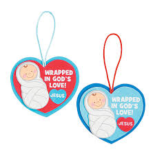 wrapped in god u0027s love christmas ornament craft kit