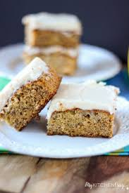 banana snack cake with cream cheese frosting my kitchen craze