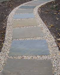How To Clean Stone Patio by Stone And Gravel Path From Driveway To Front Porch Waaaaay