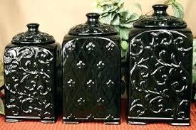 black kitchen canister set unique kitchen canisters rustic canister set jar kitchen 4 unique