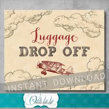 luggage drop off sign 8x10 inches gifts sign vintage