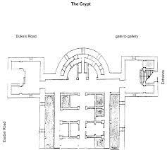 St Pancras Floor Plan Crypt Map U2014 The Crypt Gallery London