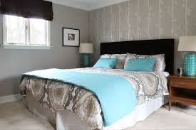 Modern Black And White Bedroom For Girls Blue And Brown Bedroom For Teenagers Oxford Wood Nailhead Border