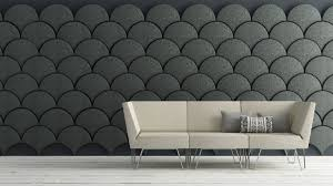 cloud inspired wall paneling idea come with creative half circle