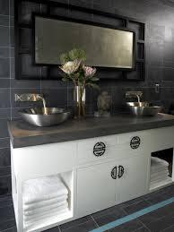 Dark Gray Bathroom by Rooms Viewer Hgtv