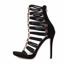 dijigirls summer boots women sandles gold metal button belt high