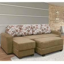 chaise e 60 sofas com chaise e puff okaycreations