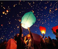shop 10pcs sale multicolors paper sky lanterns flying