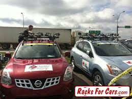 nissan rogue roof rails racking up the tour of alberta team vehicles racks for cars