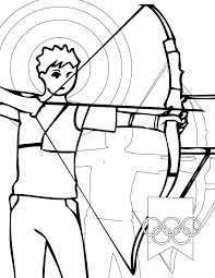 archery coloring page handipoints