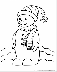 magnificent snowman coloring page create printout or activity with