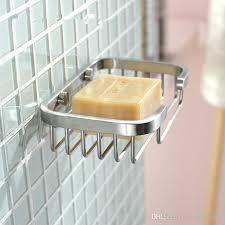 bathroom shoo holder 2018 brushed nickel finish soap basket holder stainless steel 304