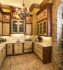 brick floor kitchen kitchen modern with backsplash tile mosaic