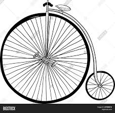 old fashioned bicycle sketch vector u0026 photo bigstock