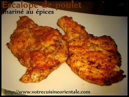 comment cuisiner des escalopes de poulet escalope de dinde mariné aux épices