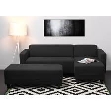 canapé angle noir finlandek kulma canapé d angle à gauche convertible banc