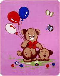 teddy balloons teddy s n balloons acrylic mink baby blanket pink