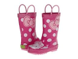 western chief kids kitty cutie dot rain boot toddler