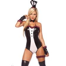 Halloween Costumes Lingerie 4pc Easter Rabbit Costume Lc8657 Halloween Costumes Women
