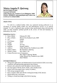 resume format 2017 philippines simple resume sle format philippines resume resume exles