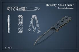 butterfly knife trainer freelance 3d modeling design cad crowd