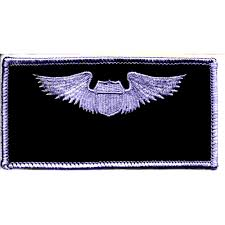 air pilot wings name patch silver and black specialty