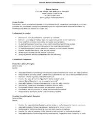 dentist resume example eliolera com