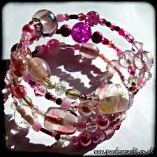pink glass bead bracelet images Beaded bracelets powder monki jpg