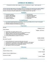 Plain Resume Template Barrister Cv Example For Law Livecareer