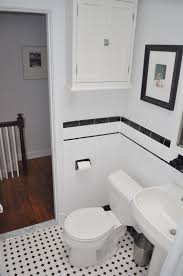 Subway Tile Small Bathroom Bathroom Tiles Black And White Ideas 100 Images Black And
