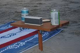 compact folding beach table fold up beach table table designs