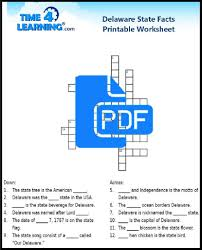 free printable delaware state facts crossword time4learning