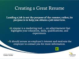 creating a great resume ppt download