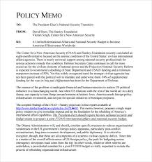 sample policy memo sample policy memo template sample policy memo